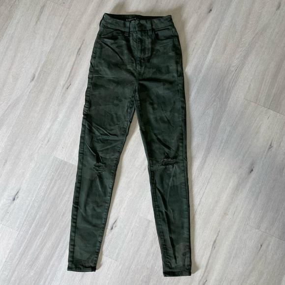 Camo green skinny jeans (brand new)